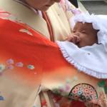 お宮参り赤ちゃんの祝い着